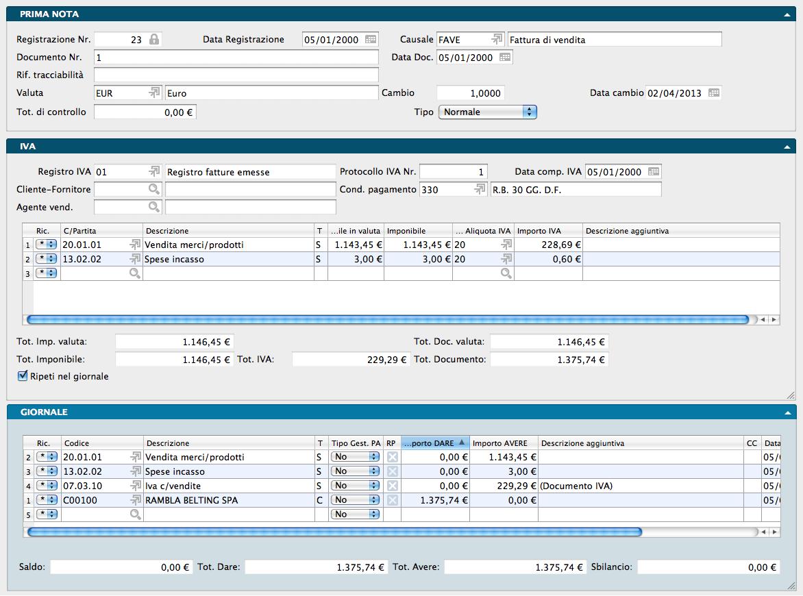 Konga manuale del modulo di contabilit konga 1 4 7 2 for Registrazione preliminare di vendita
