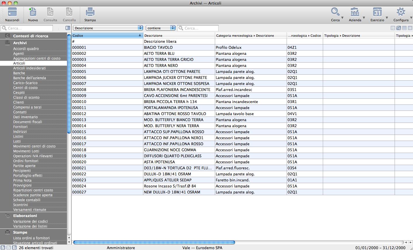 La visualizzazione lista quella che incontriamo all interno di un insieme di dati ed l elenco dei record ivi contenuti tali insiemi li troviamo